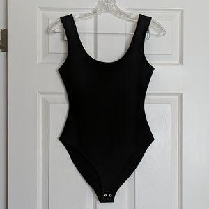 Forever 21 Black Scoop Bodysuit S